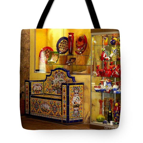 Ceramic Crafts In A Shop Tote Bag
