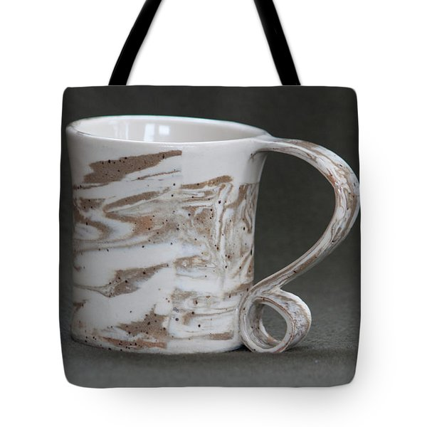 Ceramic Marbled Clay Cup Tote Bag by Suzanne Gaff