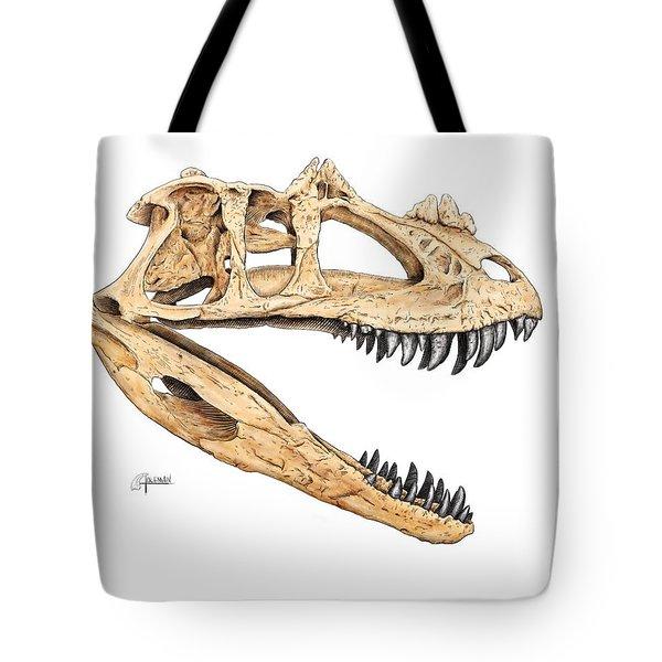Ceratosaur Skull Tote Bag