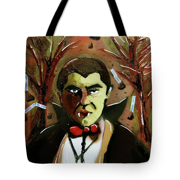 Tote Bag featuring the painting Cereal Killers - Count Chocula by eVol i