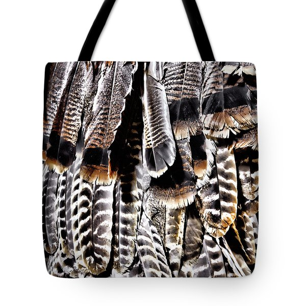 Tote Bag featuring the photograph Ceremonial Feathers by Ann Powell