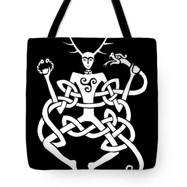 Cernunnos Bw Tote Bag