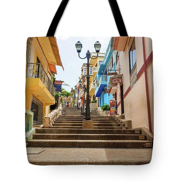 Cerro Santa Ana Guayaquil Ecuador Tote Bag by Marek Poplawski