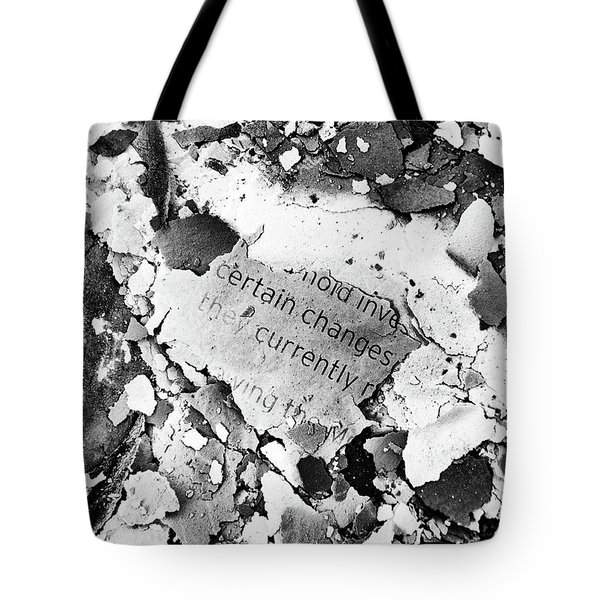 Certain Changes Tote Bag
