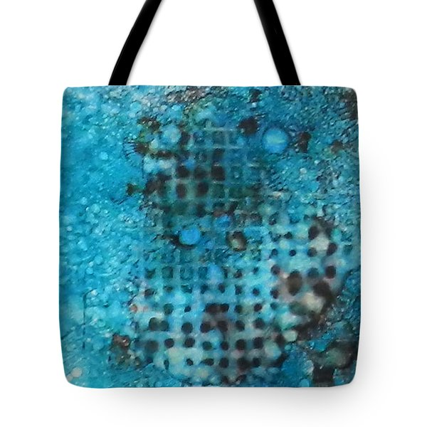 Tote Bag featuring the painting Cerulean Dream Ink #23 by Sarajane Helm