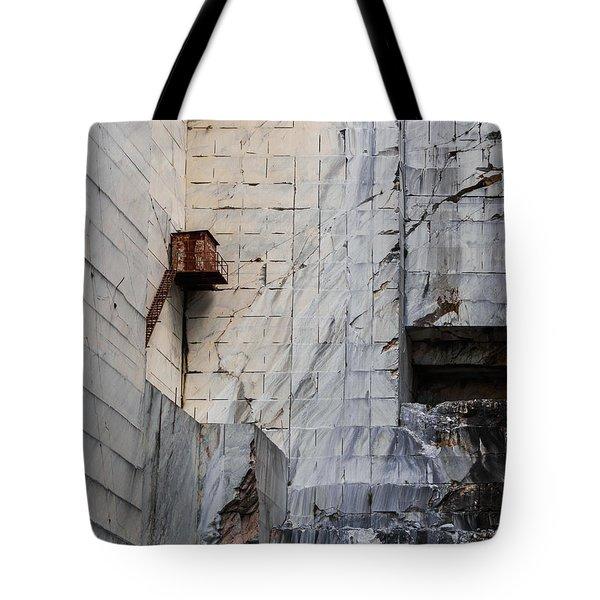 Tote Bag featuring the photograph Cervaiole Quarry - Apuan Alps, Tuscany Italy by Giovanni Bertagna