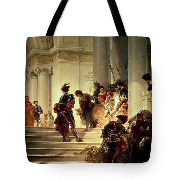 Cesare Borgia Leaving The Vatican Tote Bag by Giuseppe Lorenzo Gatteri
