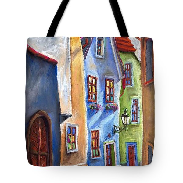 Cesky Krumlov Old Street Tote Bag by Yuriy  Shevchuk