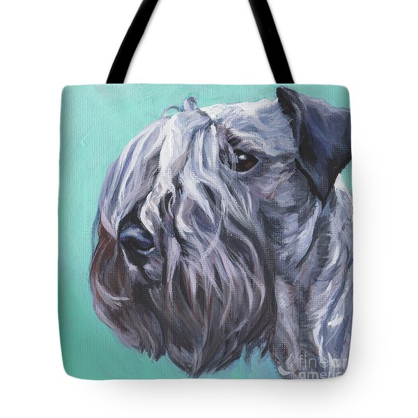 Tote Bag featuring the painting Cesky Terrier by Lee Ann Shepard