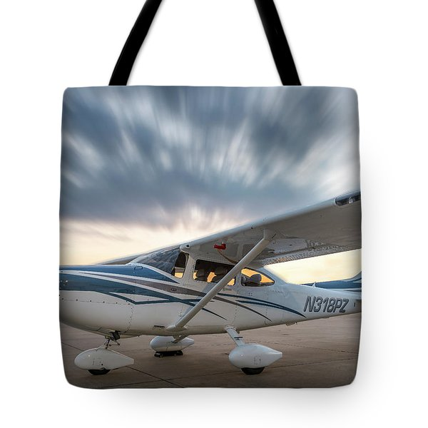 Cessna 182 On The Ramp Tote Bag