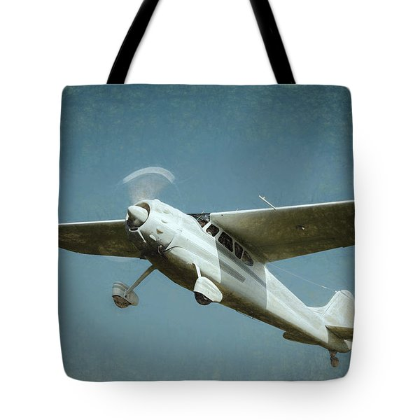 Tote Bag featuring the photograph Cessna 195 by James Barber