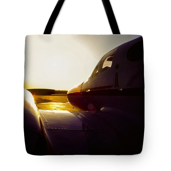 Cessna 421c Golden Eagle IIi Silhouette Tote Bag