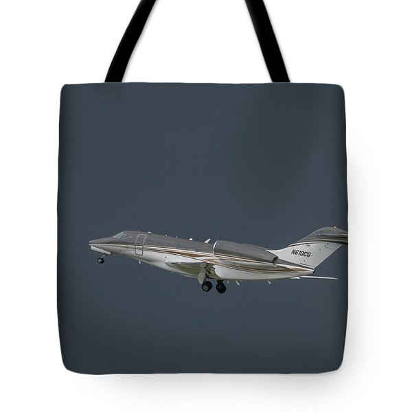 Tote Bag featuring the photograph Cessna 750 N610cg by Guy Whiteley