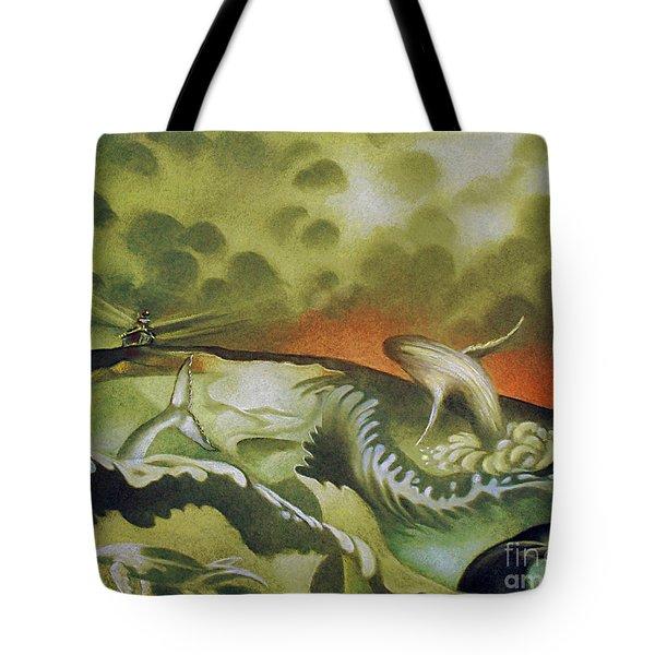 Cetacean Sunset Tote Bag