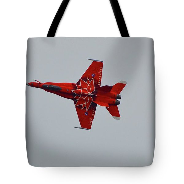 Cf-18 Demonstration For Canada 150  Tote Bag
