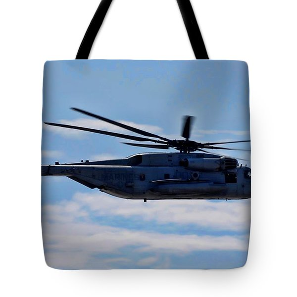 Ch-53d Sea Stallion - 2 Tote Bag by Tommy Anderson