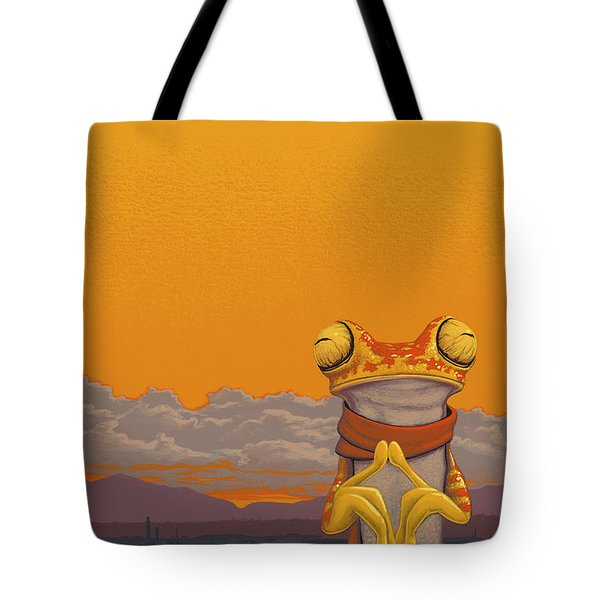 Chachi Tree Frog Tote Bag by Jasper Oostland