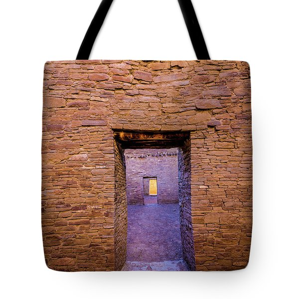 Chaco Canyon - Pueblo Bonito Doorways - New Mexico Tote Bag