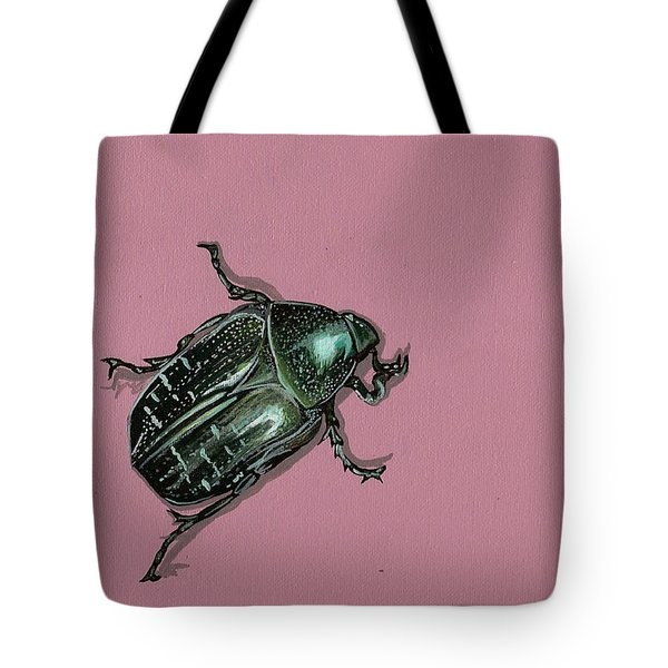 Tote Bag featuring the painting Chaf Beetle by Jude Labuszewski