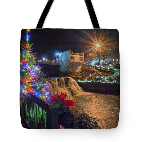 Chagrin Falls At Christmas Tote Bag