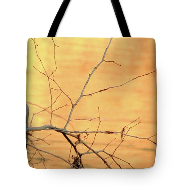 Chagrin River Gold Tote Bag by Bruce Patrick Smith