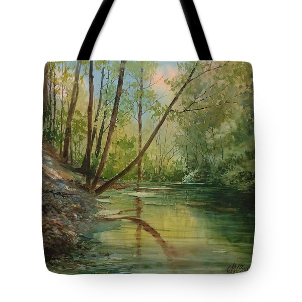 Chagrin River In Spring Tote Bag