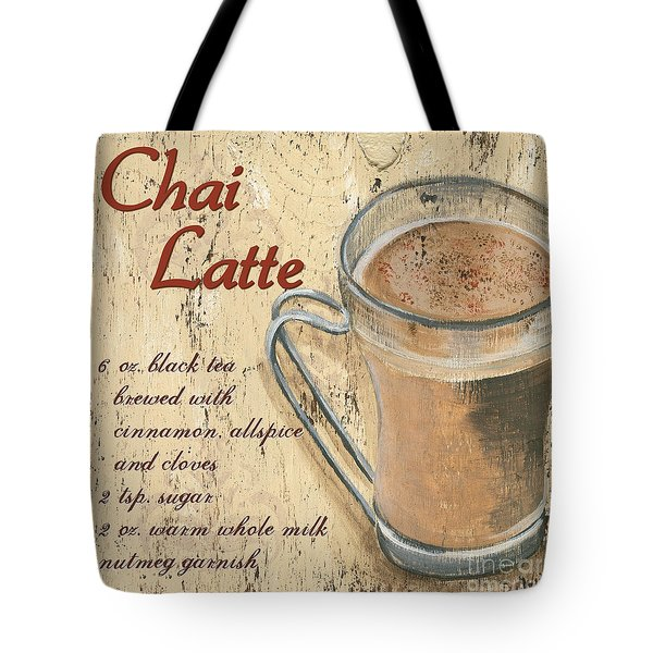 Chai Latte Tote Bag by Debbie DeWitt
