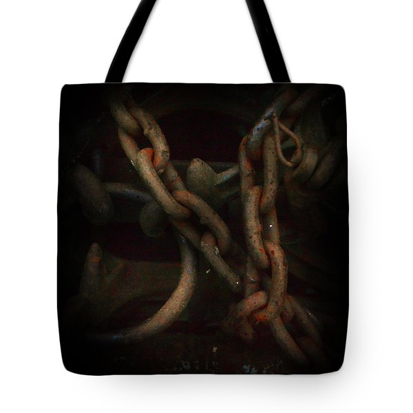 Plate 002- Chain - Metallica Series Tote Bag