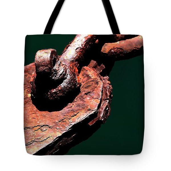 Tote Bag featuring the photograph Chain Age II by Stephen Mitchell