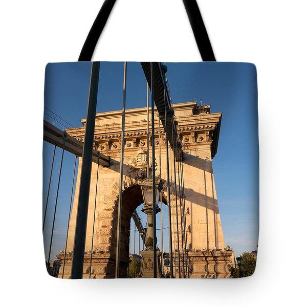 Chain Bridge Budapest  Tote Bag