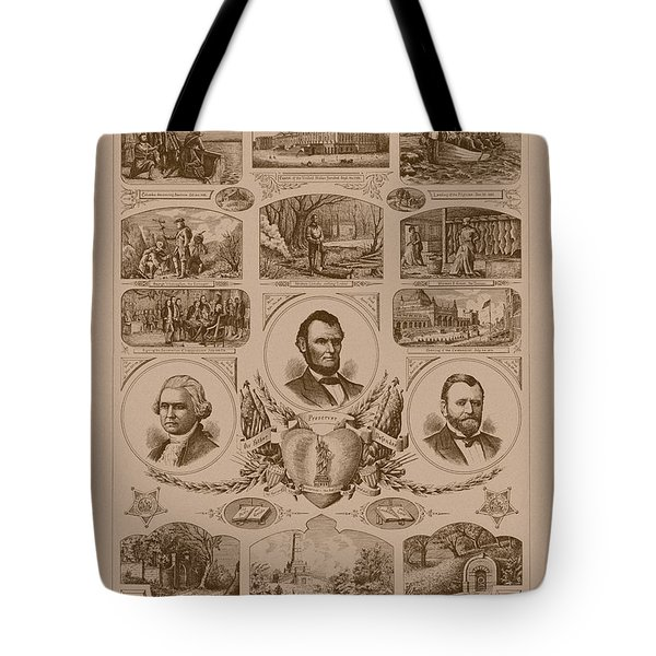 Chain Of Events In American History Tote Bag