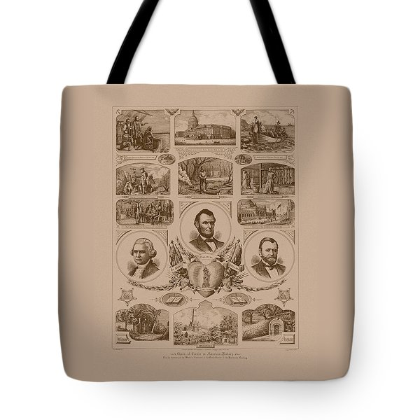 Chain Of Events In American History Tote Bag by War Is Hell Store