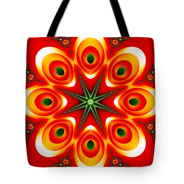 Chained Sunburst Tote Bag