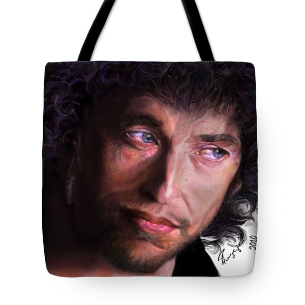 Chained To The Sky -  Bob Dylan  Tote Bag by Reggie Duffie