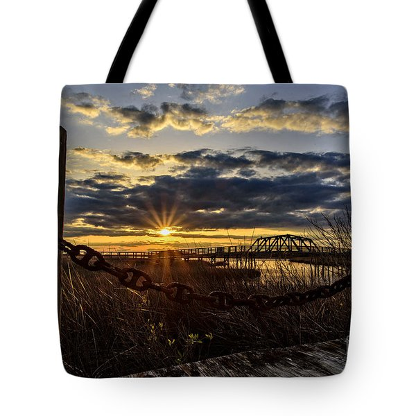 Chained View Tote Bag