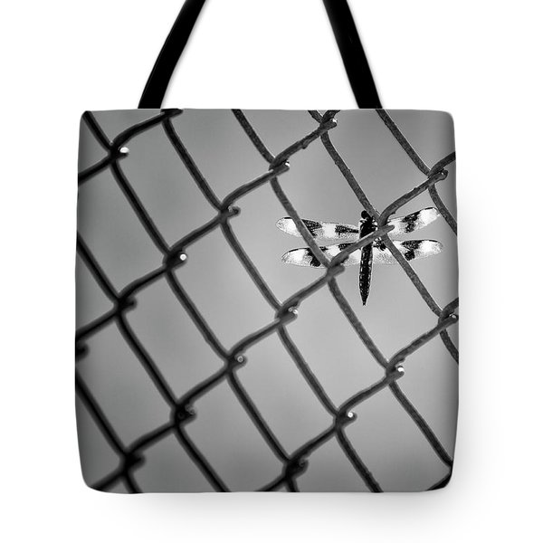 Chainlink Dragon Fly Tote Bag