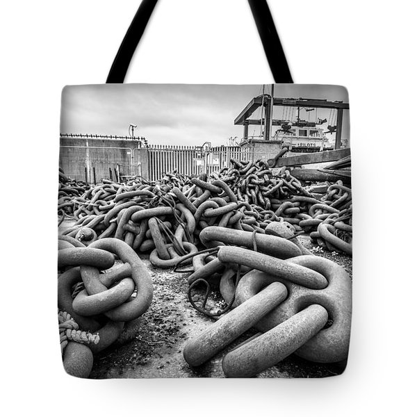 Chains And Anchors Tote Bag