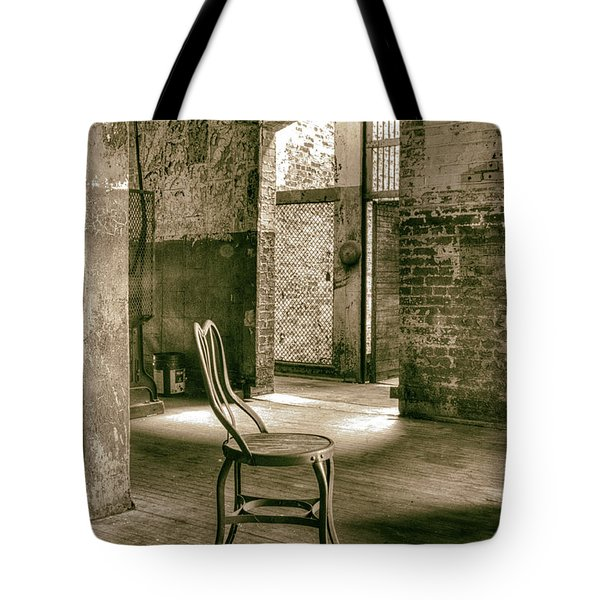 Tote Bag featuring the photograph Chair And Stairwell Arch by ELDavis Photography