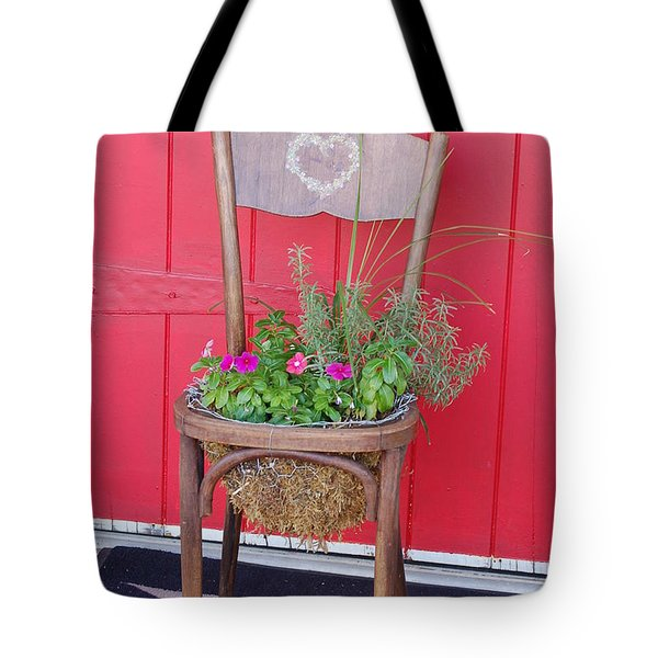 Chair Planter Tote Bag