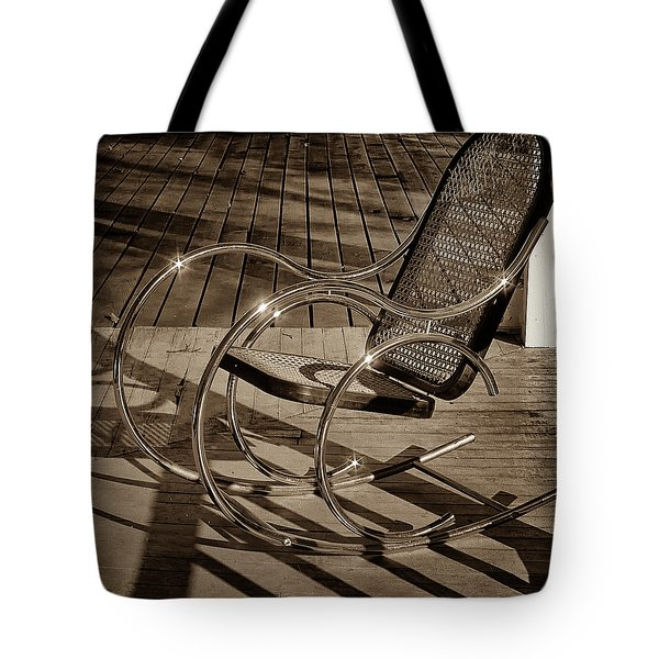 Tote Bag featuring the photograph Chair by Samuel M Purvis III