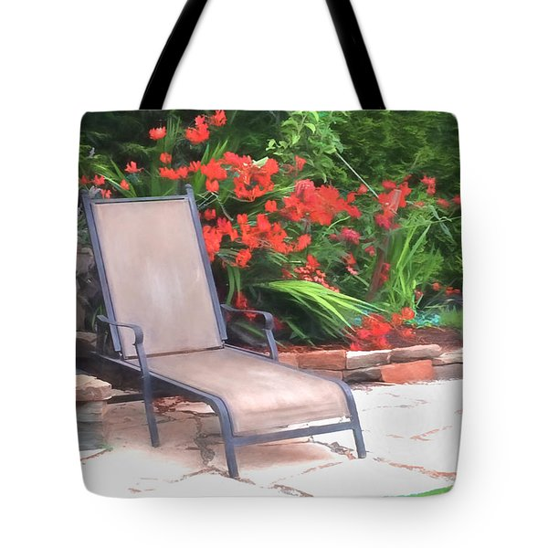 Chair Waiting Tote Bag