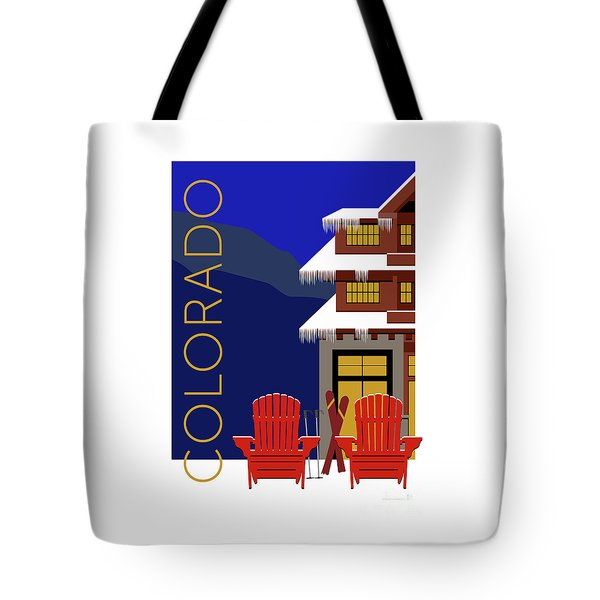 Tote Bag featuring the digital art Colorado Chairs by Sam Brennan