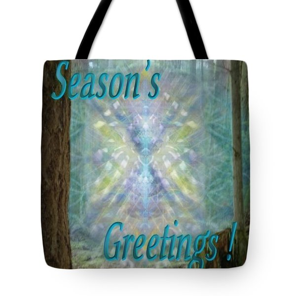 Chalice-tree In The Forest V2 Holiday Card Tote Bag by Christopher Pringer