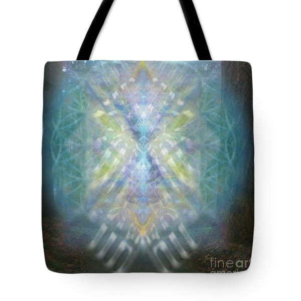 Chalice-tree Spirit In The Forest V1 Tote Bag by Christopher Pringer