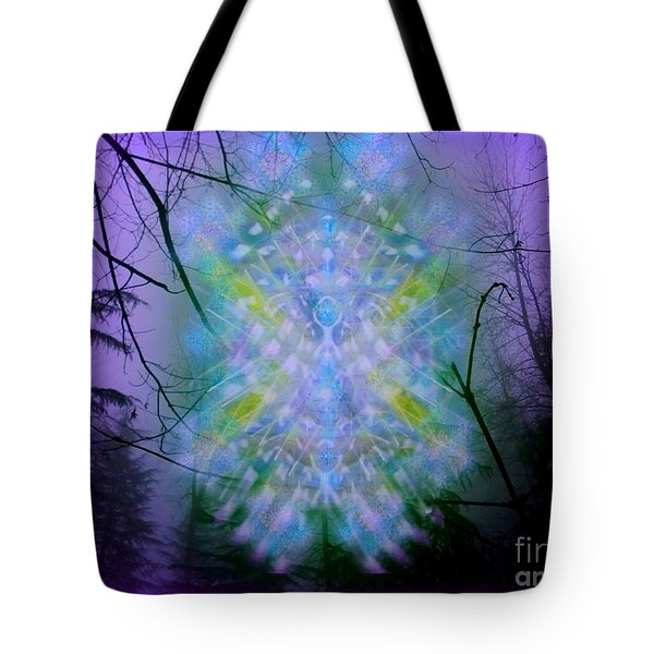 Chalice-tree Spirit In The Forest V1a Tote Bag by Christopher Pringer