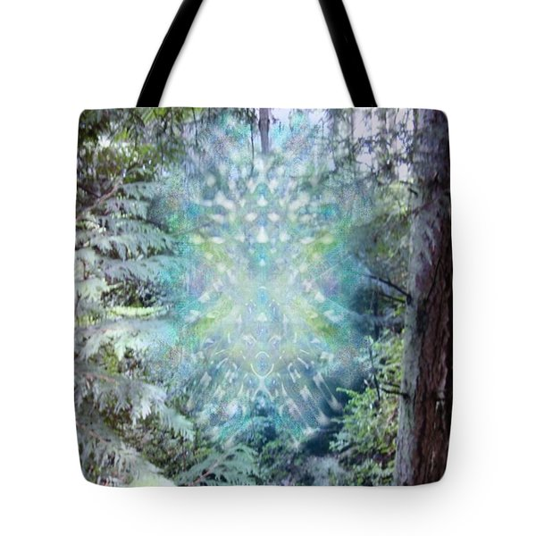 Chalice-tree Spirit In The Forest V3 Tote Bag by Christopher Pringer