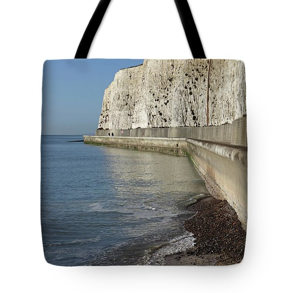 Chalk Cliffs At Peacehaven East Sussex England Uk Tote Bag