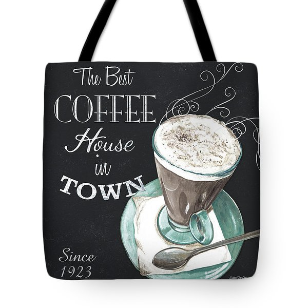 Tote Bag featuring the painting Chalkboard Retro Coffee Shop 2 by Debbie DeWitt