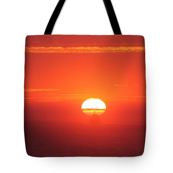 Challenging The Sun Tote Bag