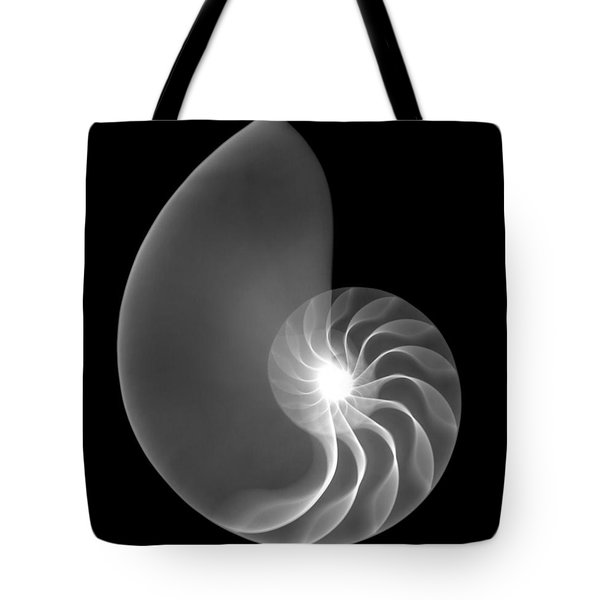 Chambered Nautilus Shell Tote Bag by Ted Kinsman